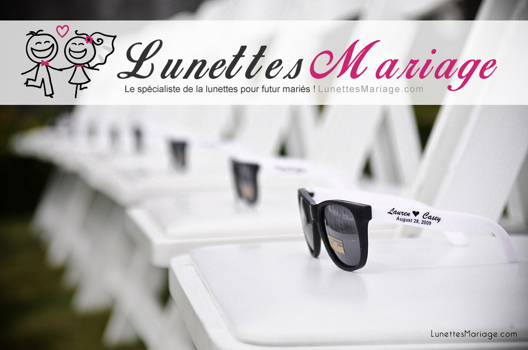 10 Lunettes Personnalisées Mariage ede9a775a24b
